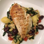Greek Chicken with Spinach, Artichokes, and Kalamata Olives